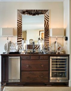 Suzie: Joy Tribout - Amazing re-purposed dresser with wine cooler, stainless steel mini fridge, ...