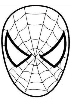 ausmalbild Spiderman den Spinnenmann Maske