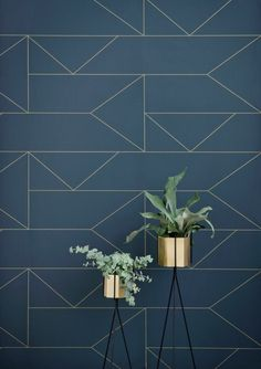 papier peint leroy merlin geometrique bleu foncé