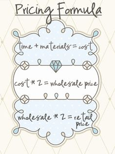 Great post by Create Kids Couture with free pricing spreadsheet