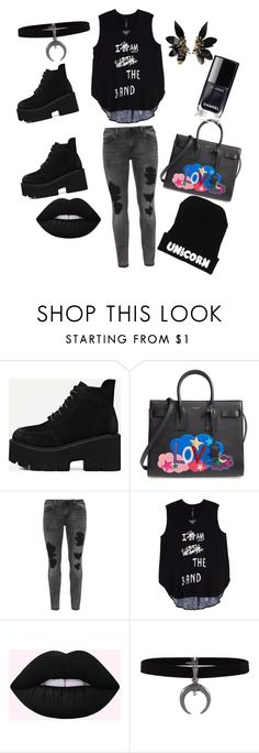 """""""Pretty Ugly,Grungy Chic,fade to black,"""" by eclectic-sista ❤ liked on Polyvore featuring Yves Saint Laurent, Zizzi, Melissa McCarthy Seven7, Marni and plus size clothing"""