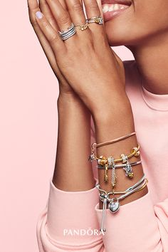 Pandora Jewelry OFF!> >>>Visit>> Layer on your favorites and celebrate self-love with sterling silver and PANDORA Shine™! Pandora Rings, Pandora Bracelets, Pandora Jewelry, Pandora Pandora, Heart Pendant Necklace, Heart Earrings, Gold Necklace, Latest Fashion For Women, Womens Fashion