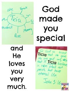 God made you special and He loves you very much #Biblelesson #kidmin #Godlovesyou