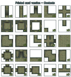 Heroic Maps - Small Tiles: Dungeon Core Set - Heroic Maps | Caverns & Tunnels | Dungeons | Geomorphs | Small Tiles | DriveThruRPG.com