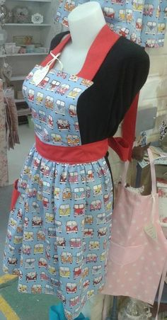 Blue campervan apron