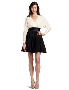 Amazon.com: HALSTON HERITAGE Women's Long Sleeve Dress: Clothing
