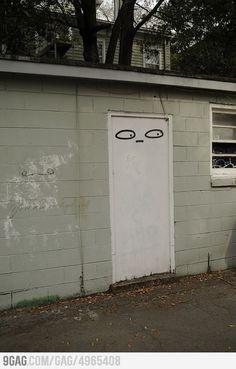 suspicious door is suspicious.