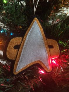 Shop for on Etsy, the place to express your creativity through the buying and selling of handmade and vintage goods. Star Trek Christmas, Felt Christmas Ornaments, Christmas 2015, Christmas Ideas, Merry Christmas, Star Trek Convention, Star Trek Voyager, Christmas Templates, Templates Printable Free