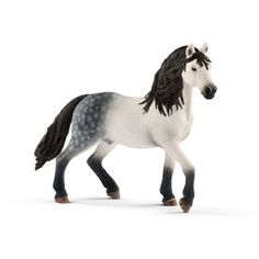 Are you a horse lover? Then you will appreciate this realistic toy animal by an Andalusian stallion. The finely detailed horse is approx. 13 long and 11 cm tall. Bryer Horses, Shetland Sheepdog Puppies, Pet Toys, Farm Animals, Habitats, Lion Sculpture, Pure Products, Age 3, Current Events