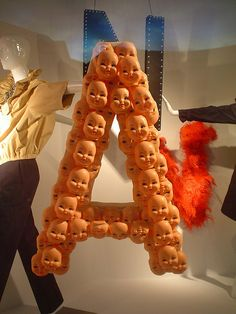 Baby heads in Lanvin window display