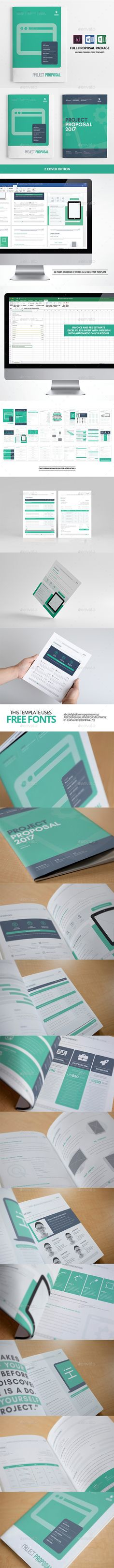 28 Page Full Proposal Package A4 / US Letter Template InDesign INDD #design Download: http://graphicriver.net/item/28-page-full-proposal-package-a4-us-letter/14016978?ref=ksioks