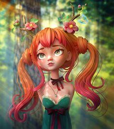 """다음 @Behance 프로젝트 확인: """"Druid Girl"""" https://www.behance.net/gallery/63577819/Druid-Girl"""