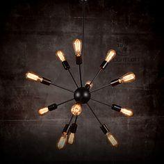 Achetez Creative 12-Ampoule Nickel brossé Chetelier avec le Meilleur Prix et le…