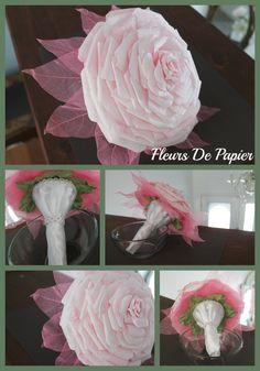 Fleur composite rose
