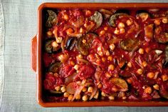 Eggplant, Tomato and ChickPea casserole, NYT