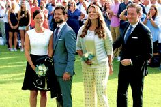 King Carl XVI Gustaf, Queen Silvia, Crown Princess Victoria, Prince Daniel, Prince Carl Philip of Sweden and Princess Sofia, Princess Madeleine, Christopher O'Neill attend a concert to celebrate the 38th birthday of Crown Princess Victoria at the Borgholm Arena on July 14, 2015 in Oland, Sweden.