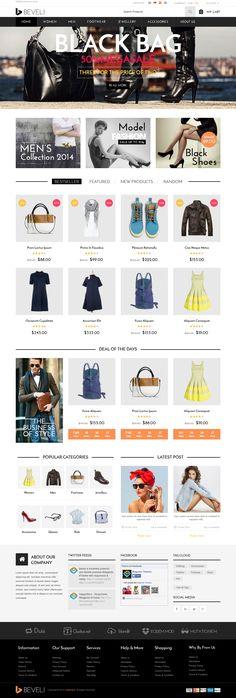 Beveli Multipurpose Responsive Magento Theme 2015 #eCommerce #shop #template