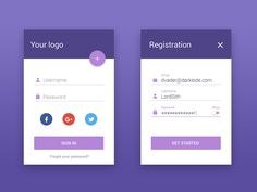 UI Kits, Icons, Templates, Themes and App Login, Login Form, App Ui, Login Design, Web Design, Design Ideas, Log In Ui, Android Material Design, Registration Form