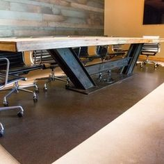tables with I-beam legs - Google Search