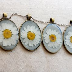 necklace set pressed flower handmade by StudioBotanica on Etsy.