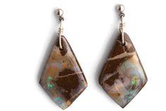 Super cool stylish boulder opal earrings for people of all ages from all walks of life. Be a style seeker & wear defining gemstone jewelry. Opal Earrings, Sterling Silver Earrings, Drop Earrings, Boho Jewelry, Gemstone Jewelry, Jewelry Design, Minimalist Design, Boho Fashion, Boho Chic