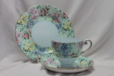Shelley cup, saucer and plate Melody pattern 12974