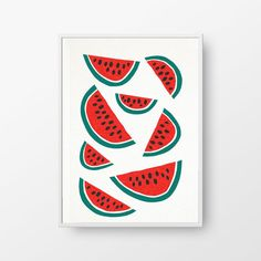 Shop Watermelons from Tin and Bird in Limited edition prints, available on Tictail from Wall Candy, Amazing Art, Print Patterns, Watermelon, Tin, Printables, Sculpture, Cards, Sculptures