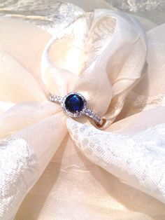 Midnight Blue Sapphire Ring or Engagement Ring by NorthCoastCottage, $299.00  #handmade #jewelry #etsy #ring #engagement #bridal