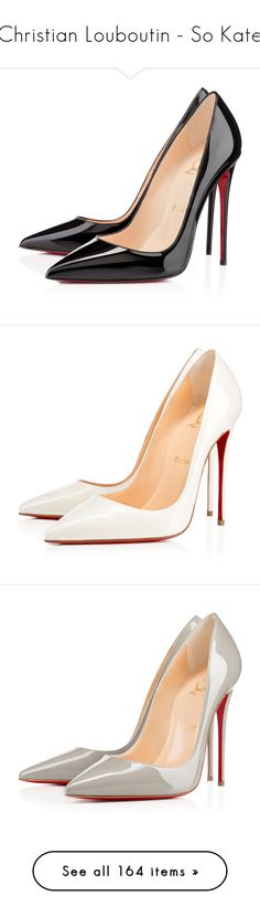 """""""Christian Louboutin - So Kate"""" by enchantedxox ❤ liked on Polyvore featuring shoes, pumps, heels, christian louboutin, louboutin, black, black stiletto pumps, pointy-toe pumps, high heeled footwear and black high heel pumps"""