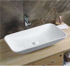 Beautiful Morning suorakulmainen posliini malja-allas 70x40 cm pop-up pohjaventtiilillä! | Styledesign.fi - designia kotiin ja kylpyhuoneeseen -