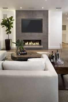 best tv wall design and ideas 33 ~ mantulgan.me : best tv wall design and ideas 33 ~ mantulgan.me – Living Room Home Fireplace, Living Room With Fireplace, Fireplace Design, Fireplace Ideas, Fireplace Furniture, Bedroom Fireplace, Bedroom Tv Wall, Basement Fireplace, Linear Fireplace