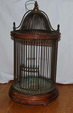 Online veilinghuis Catawiki: Messing vogelkooi - Hout en koper - circa 1900