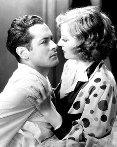 Robert Montgomery and Tallulah Bankhead in a promo shot for Faithless (1932)