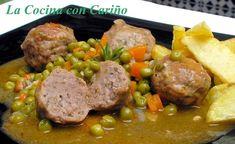 ALBÓNDIGAS ESTOFADAS Spanish Food, Spanish Recipes, Peruvian Recipes, Albondigas, Pot Roast, Salsa, Beef, Cooking, Ethnic Recipes
