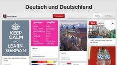 a pinterest board with a variety of things of possible interest to German teachers