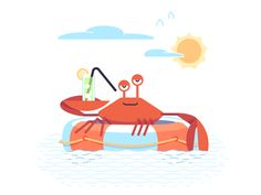 Crab is fun on Behance Lumberjack Party, Girly Drawings, Math Art, Life Insurance, Morning Images, Motion Design, Motion Graphics, Behance, Kids Rugs