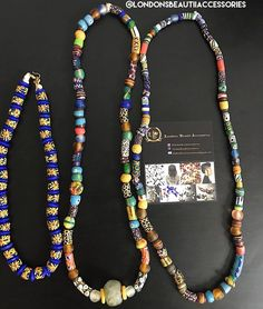 #Ghana #Necklaces #KroboBeads: @londonsbeautiiaccessories #LondonsBeautiiAccessories  Please email londonsbeautiiaccessories@gmail.com for inquiries and/or to purchase. Ghana Style, Beaded Necklace, Necklaces, Beads, Earrings, Instagram Posts, Accessories, Jewelry, Fashion
