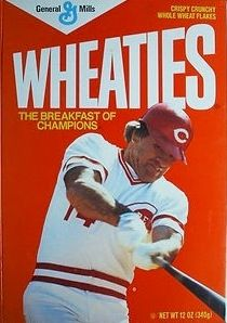 I remember this! Baseball Star, Reds Baseball, Sports Baseball, Baseball Players, Baseball Cards, Johnny Bench, Sports Graphic Design, Pete Rose, Breakfast Of Champions