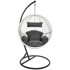 TecTake Chaise hamac avec support fauteuil suspendu de ja…