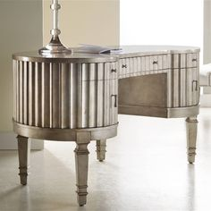 Melange Fluted Kidney Writing Desk