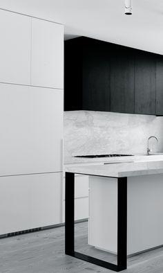 Inglis Architects | Fairbairn Road Pantry Inspiration, Black Kitchens, Cool Kitchens, Minimal Kitchen, Kitchen Pantry, Nice Kitchen, Kitchen Decor, Kitchen Ideas, Laundry In Bathroom
