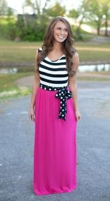 Night On The Harbor Pink Maxi