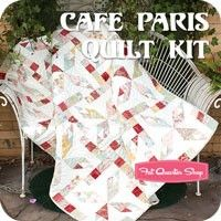 Cafe Paris Quilt Kit by Jocelyn UengFeatured in McCall's Quick Quilts magazine June/July 2013 issue