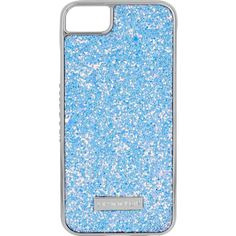 Skinny Dip Dusk Blue Glitter Iphone 6 Plus/7 Plus Phone Case ($18) ❤ liked on Polyvore featuring accessories, tech accessories and blue