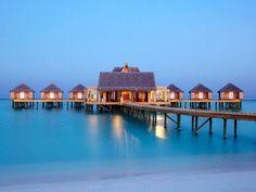 Anantara Kihavah Villas, Maldives  Tranquil private villas. Underwater dining.