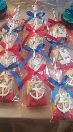 Ideas Baby Shower Party Favors Boy Krispie Treats For 2019 Baby Shower Snacks, Baby Shower Party Favors, Baby Shower Parties, Baby Shower Themes, Baby Boy Shower, Nautical Party Favors, Shower Ideas, Sailor Birthday, Sailor Party
