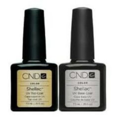 """The CND Shellac Top and Base """"Set of 2"""" Good Deal is base on coat featuring UV3 technologies created especially for utilize with the Shellac UV Color Coat System"""