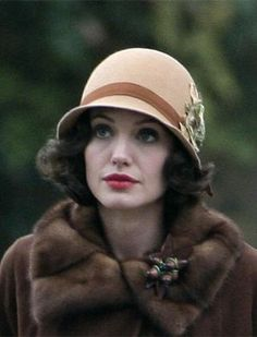 Angelina Jolie in the movie, Changeling. If you ever want to watch a good movie that will disturb you to no end, this is the movie for you. One of the saddest based-on-a-true-story movies ever told.