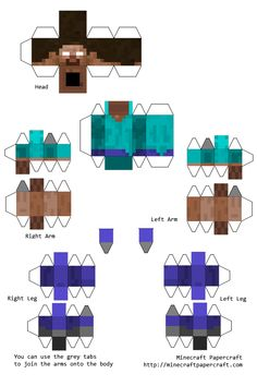 Papercraft Minecraft Herobrine with elbows and knees Minecraft Portal, Minecraft Mobs, Minecraft Characters, Minecraft Crafts, Minecraft Skins, Minecraft Templates, Minecraft Designs, Minecraft Creations, Paper Crafts Origami