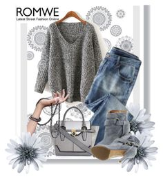 """ROMWE contest 3"" by hanicelma ❤ liked on Polyvore featuring WallPops, Wrap, River Island and Maison Margiela"